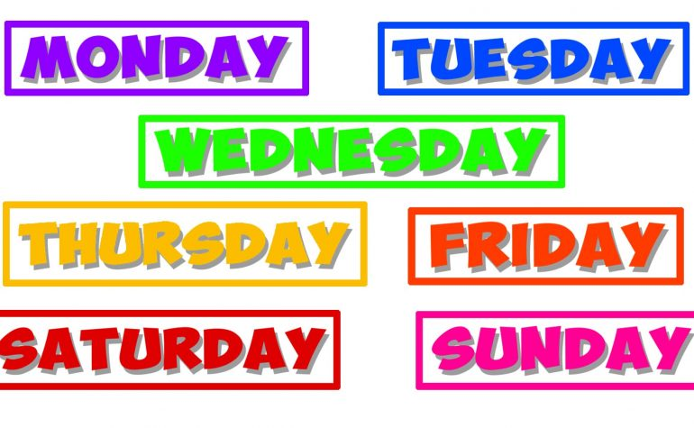 Lesson 20: Days of the week