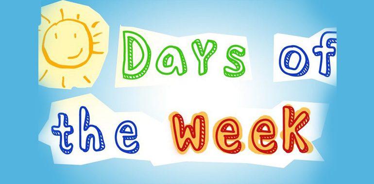 Unit 3: Từ vựng các ngày trong tuần